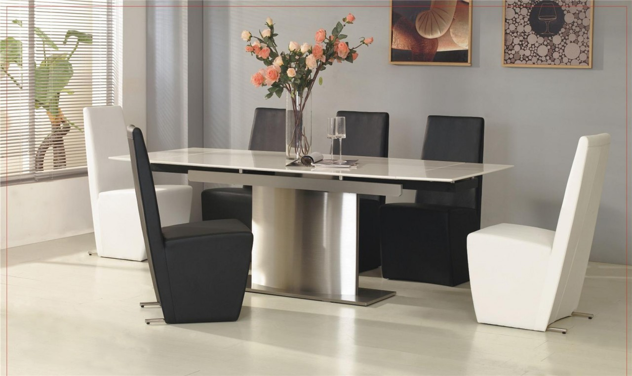 Design contemporary ideas marble top dining table for White dining table and 6 chairs