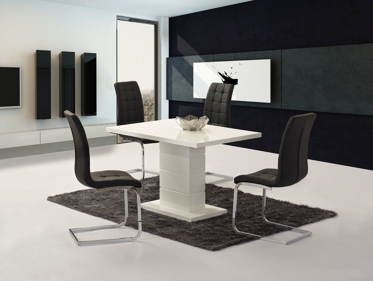 Livio White High Gloss Contemporary Designer 120 Cm