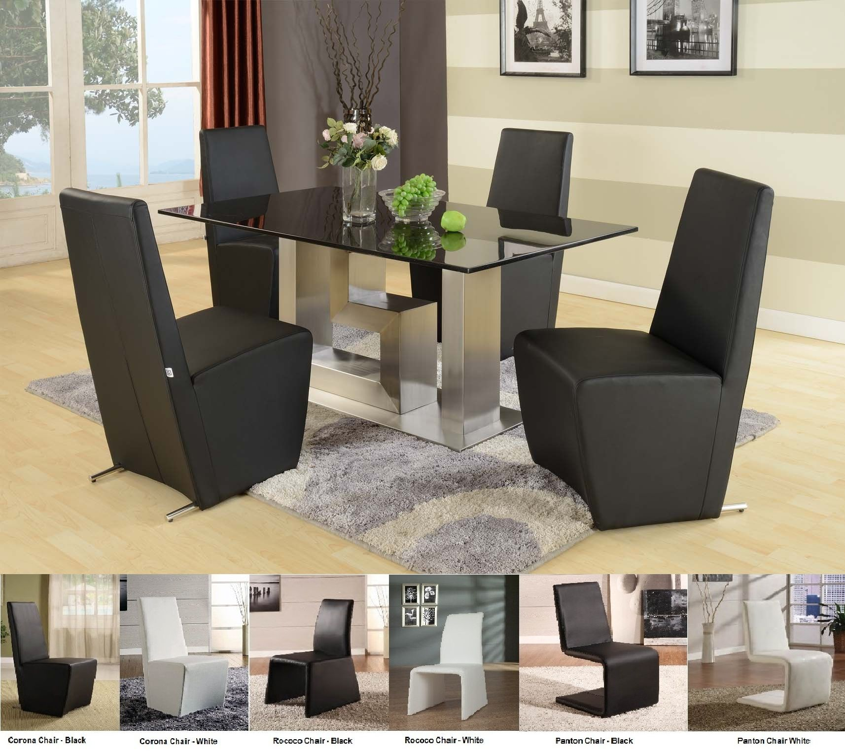 Brilliant Black White Dining Table with Chairs 1714 x 1530 · 304 kB · jpeg