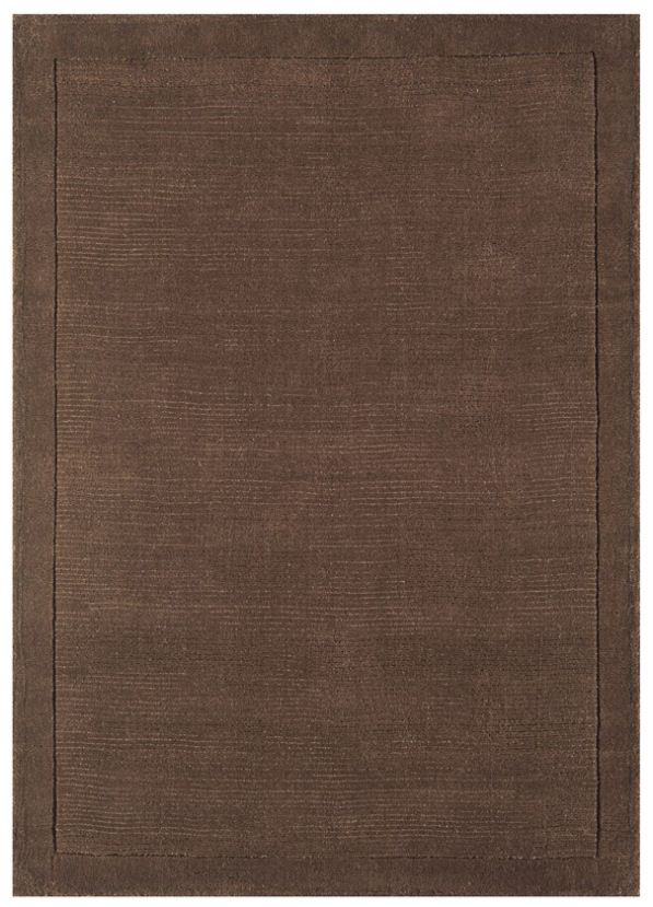 York Chocolate 100 Wool Rug