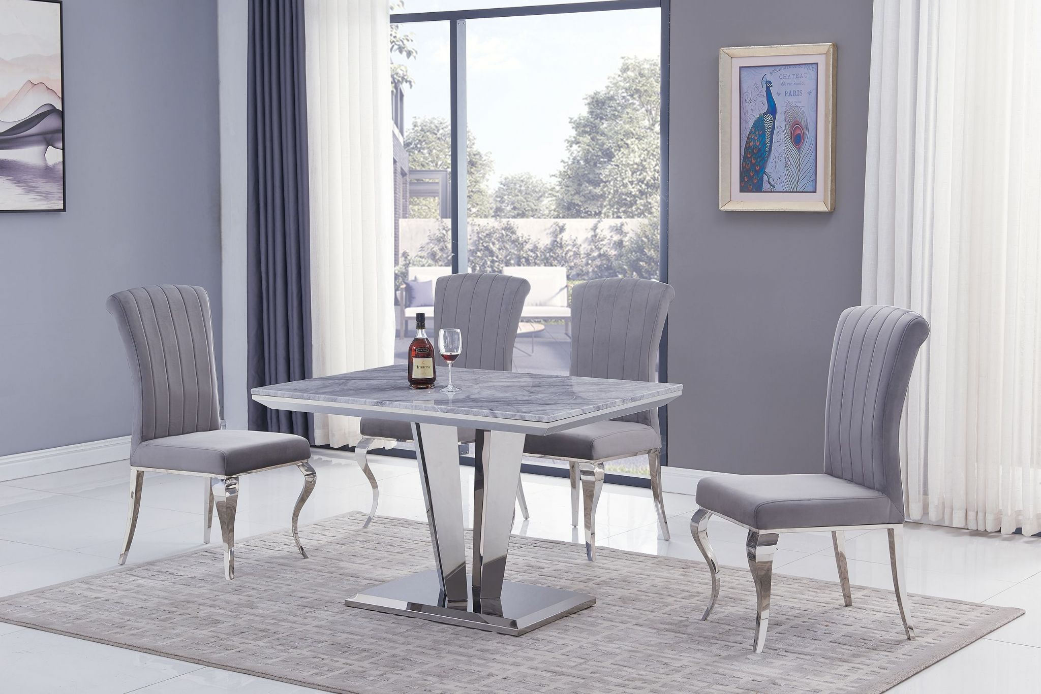 Picture of: Amalfi Small Grey Marble Dining Table