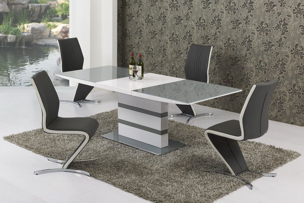 Cool K2 Grey White Small Or Large Extending Table Izabella Chairs Dailytribune Chair Design For Home Dailytribuneorg