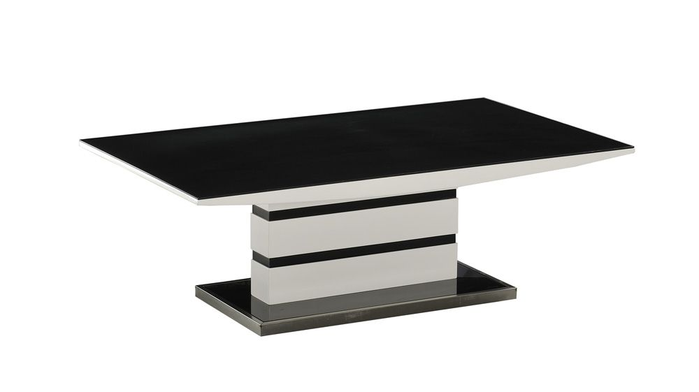 K2 MODERN DESIGNER Black & WHite High Gloss Coffee Table