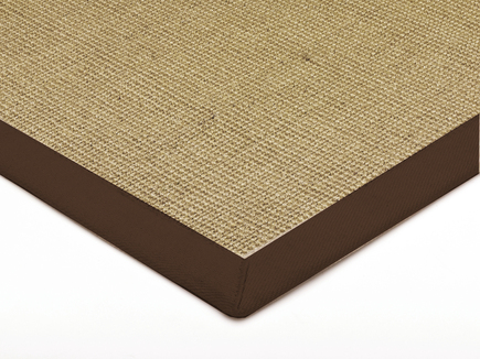 Sisal With Cotton Chocolate Border Rug