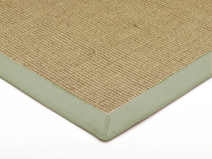 Sisal With Cotton Sage Border Rug